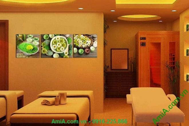 Hình ảnh Tranh treo tường trang trí spa nến hoa