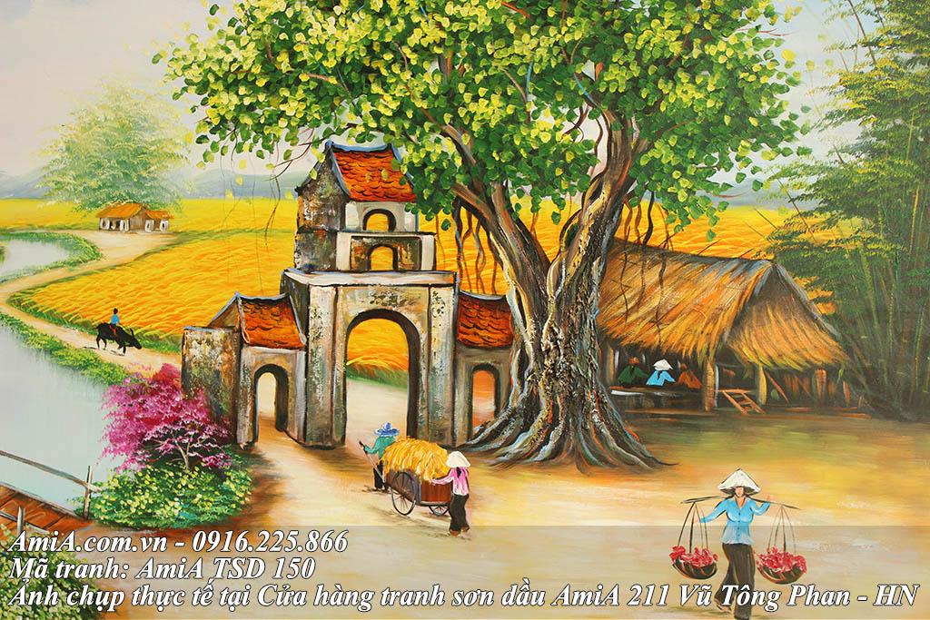 Cong lang dac trung cua Viet Nam trong buc tranh son dau ma 150