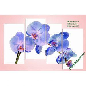 Hinh anh mau san pham tranh treo tuong phong ngu hoa phong lan xanh amia 957