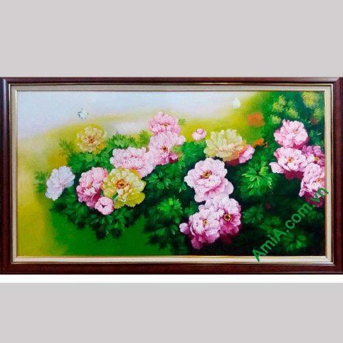 Hinh anh tranh hoa mau don ve son dau