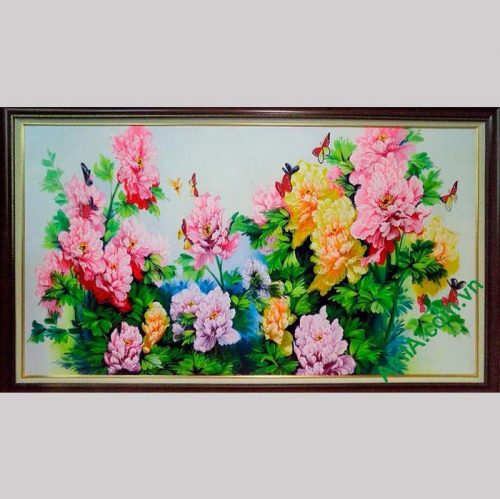 Hinh anh tranh hoa mau don ve son dau AmiA