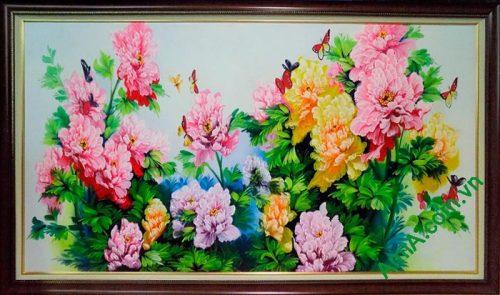 Hinh anh tranh tuong hoa mau don ve son dau AmiA TSD193
