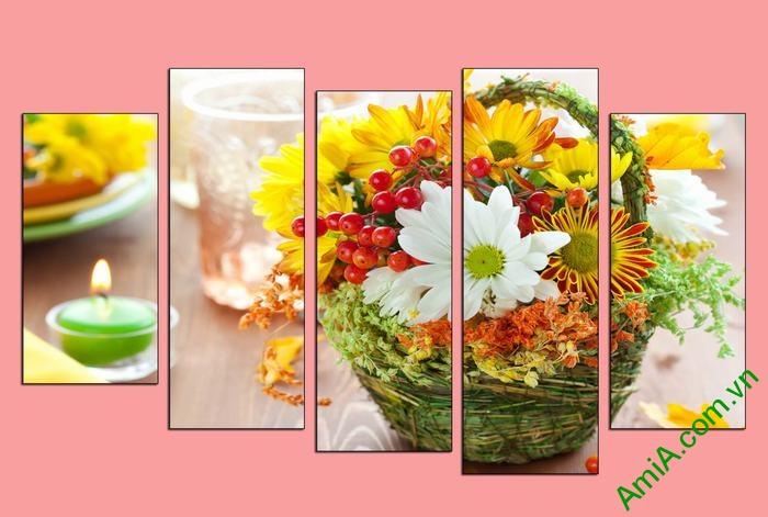 Hinh anh tranh dep trang tri spa lang hoa amia 626
