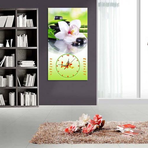 Hinh anh tranh treo tuong lich tet phong khach hoa phong lan