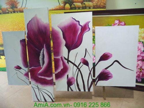 tranh hoa poppy ghep bo