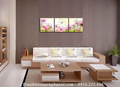 Hinh anh tranh ghep bo hoa cuc hoa mi 3 tam