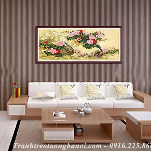 Hinh anh tranh phong thuy treo tuong hoa mau don