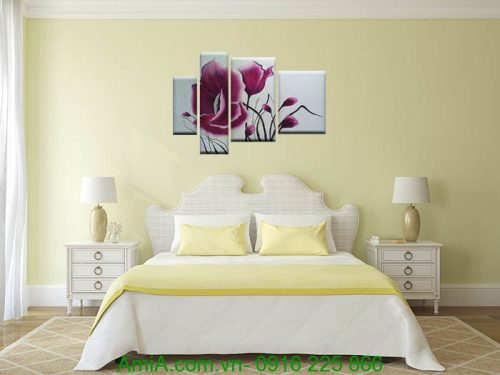 tranh treo phong ngu hoa poppy