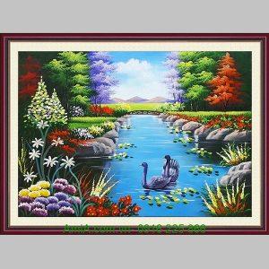 Tranh sơn dầu phong cảnh thiên nhiên