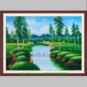 Tranh sơn dầu phong cảnh thiên nhiên đẹp