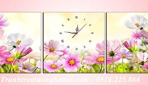 Hinh anh tranh treo tuong hoa cuc hoa mi bo 3 tam
