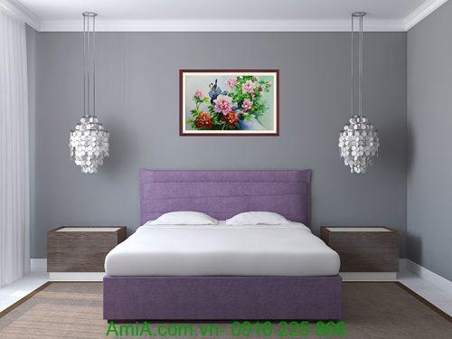 tranh treo hoa mau don