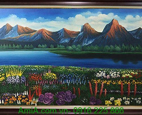 tranh phong canh ve son dau