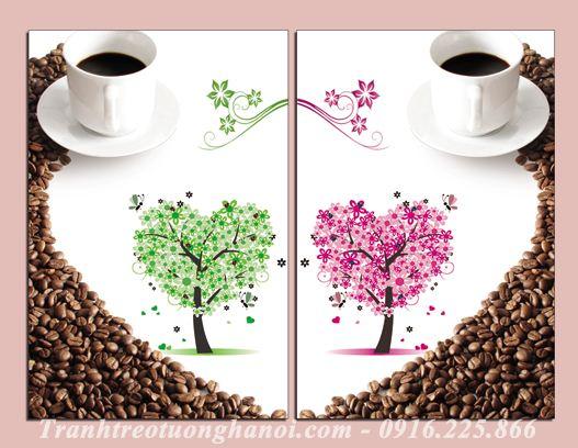 Hinh anh tranh treo quan cafe phong an nha hang AmiA