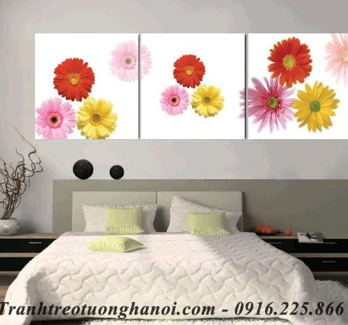 Hinh anh tranh ghep bo hoa cuc treo tuong phong ngu AmiA