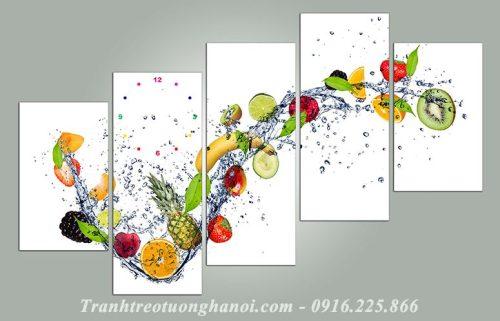 Hinh anh tranh treo phong an hoa qua ghep bo 5 tam AmiA