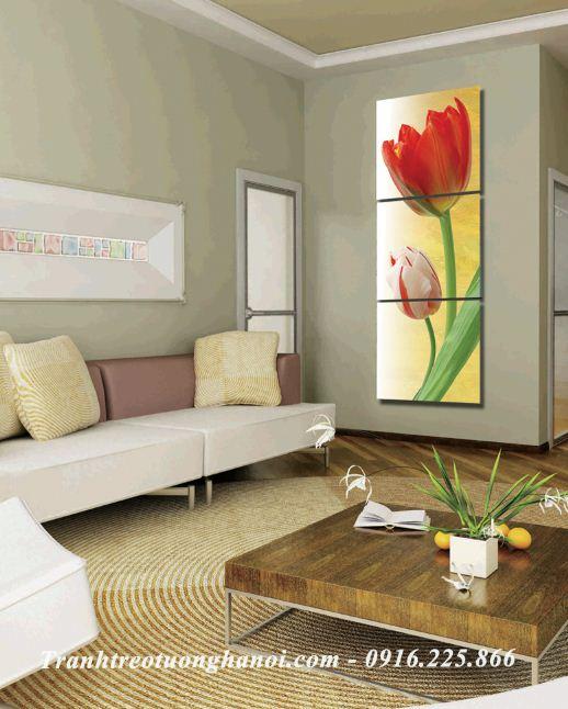 Hinh anh buc tranh treo tuong kho dung hoa tulip AmiA