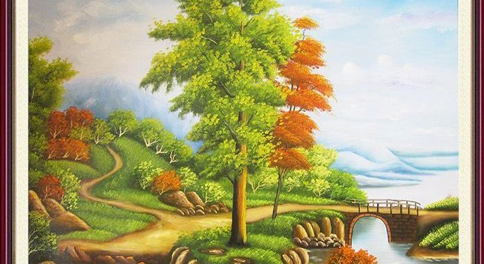 20 tranh ve thien nhien dep nhat treo tuong phong khach, phong lam viec