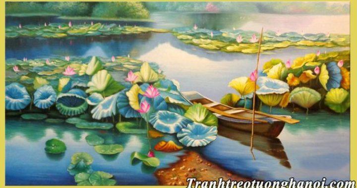 25 mau tranh hoa sen tuyet dep amia nhan ve tranh hoa sen theo yeu cau
