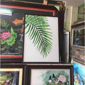 Bức khung tranh chiếc lá dừa treo tường Amia 1256