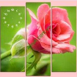 Tranh đồng hồ treo tường khổ lớn Hoa Hồng - AmiA TDH141