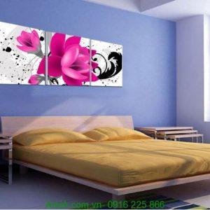 Tranh hoa lá treo phòng ngủ đẹp Amia 1244