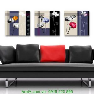 Tranh hoa lá trang trí nghệ thuật treo tường Amia 1241