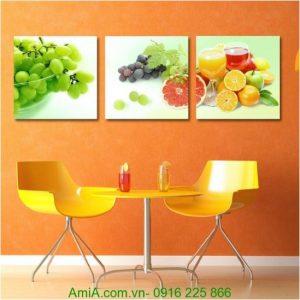 Tranh hoa quả tươi trang trí phòng ăn đẹp Amia 1253