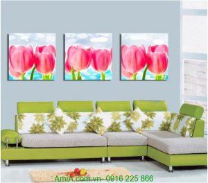 Tranh ghep bo ba tam hoa tulip Amia 1222