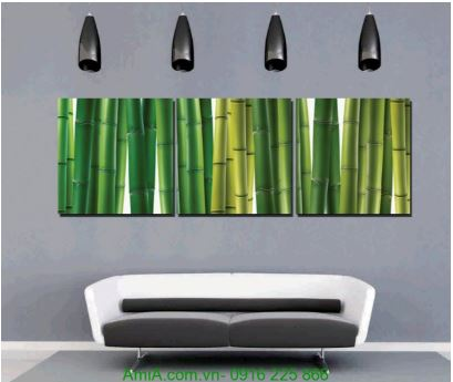 Tranh trang trí tường spa cây trúc xanh Amia 1232 hop tuoi Nham Ty