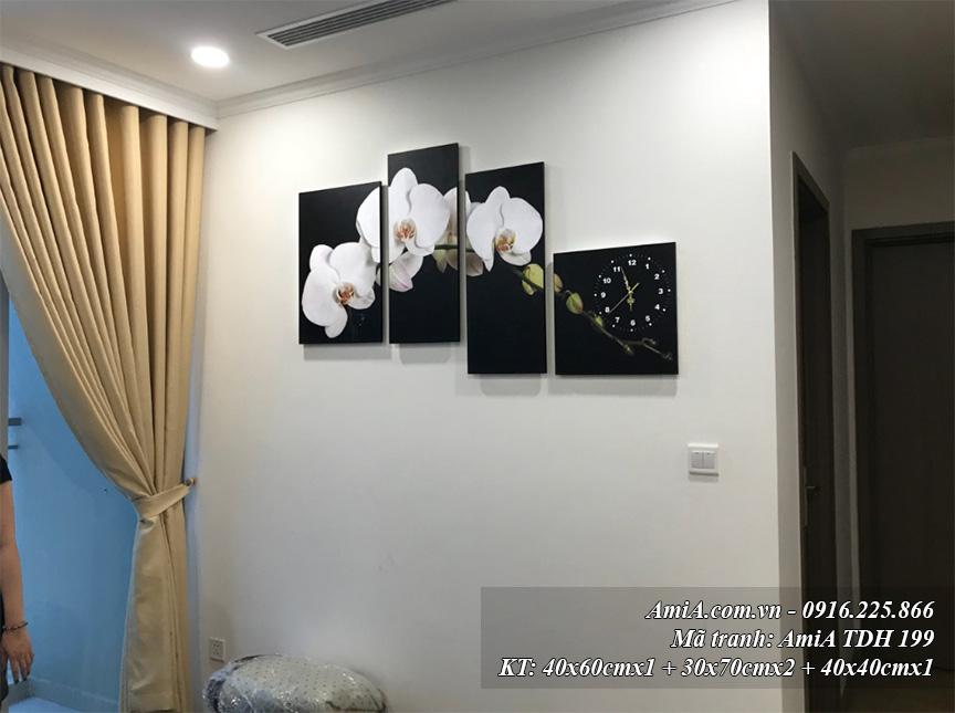 Tranh hoa phong lan AmiA 199 treo phong khach sang trong