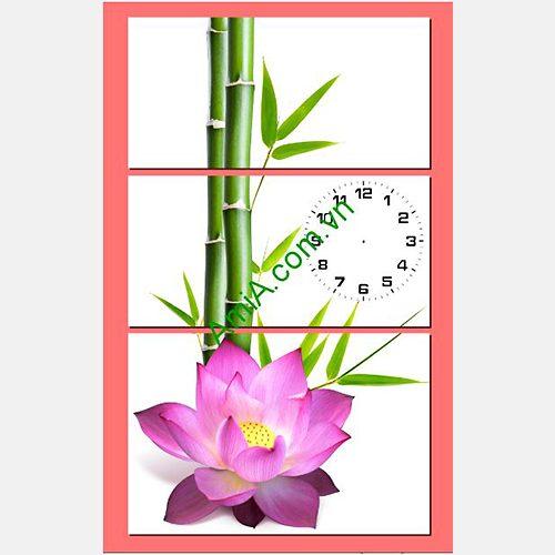 Tranh Sen treo tuong hop phong thuy AmiA 238