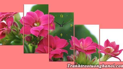 Bo tranh hoa song doi treo tuong phong khach dep