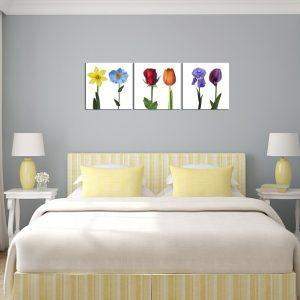 Hinh anh tranh ghep bo treo tuong hoa la 3 tam treo phong ngu