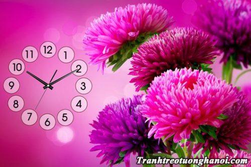 Tranh hoa cuc tim mot tam treo tuong amia 294