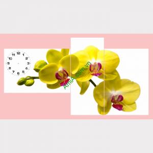Hinh anh bo tranh treo tuong hoa lan vang phu quy rat dep