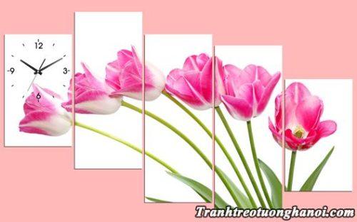 Hinh anh tranh treo tuong hoa tulip ghep bo kho lon AmiA