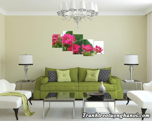 Tranh treo tuong phong khach dep hoa song doi