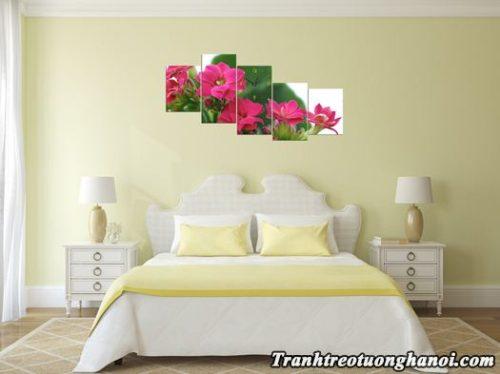 Tranh treo tuong phong ngu hoa song doi