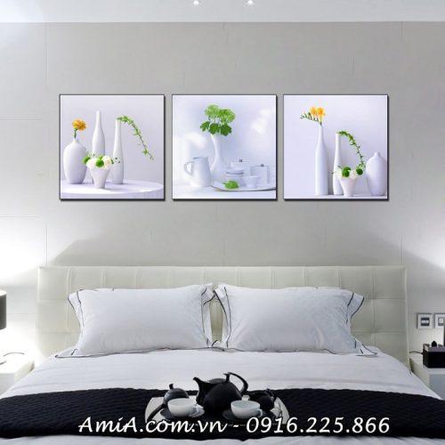 Bo tranh treo tuong phong ngu hien dai binh hoa su 3D