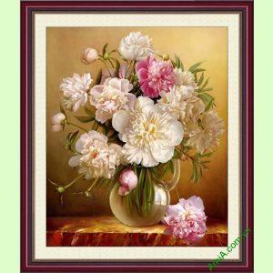 Hinh anh dai dien tranh treo tuong binh hoa mau don trong suot
