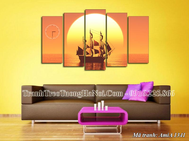 Tranh phong thủy treo tường AmiA 1341 thuận buồm xuôi gió
