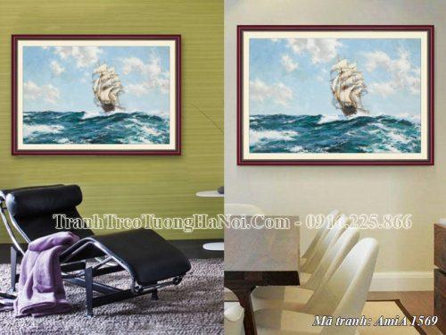 Tranh phong thủy Amia 1569 thuận buồm xuôi gió