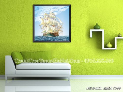 Tranh treo tường phòng khách Amia 1340 thuận buồm xuôi gió