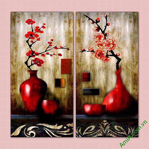 Tranh phong thuy binh hoa song dao AmiA 568