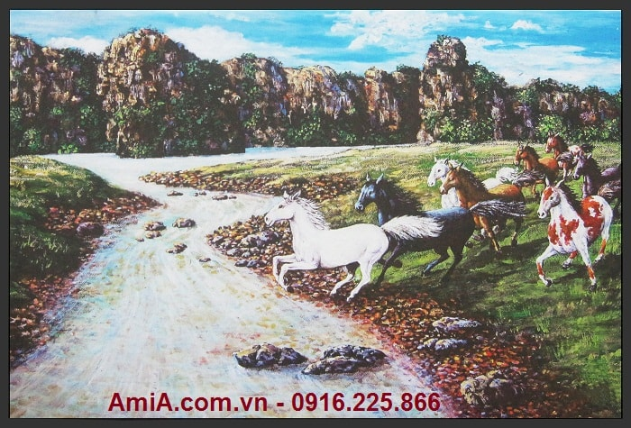 Tranh treo tuong ma dao thanh cong in vai canvas amia 4320