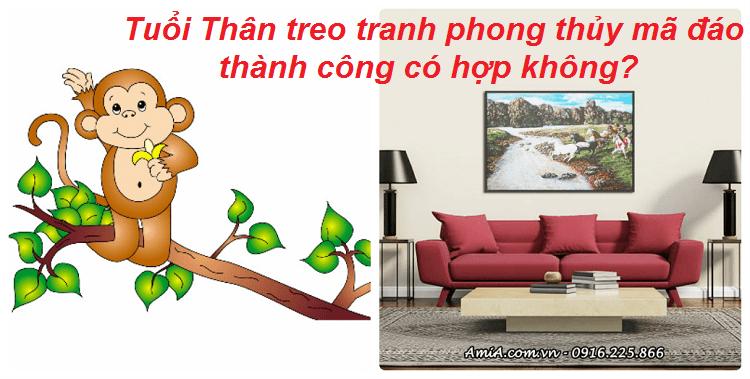 Hinh anh tuoi than treo tranh phong thuy ma dao thanh cong co hop khong