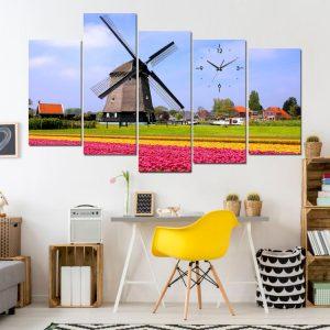 Tranh đồng hoa tulip treo tường phòng khách đẹp