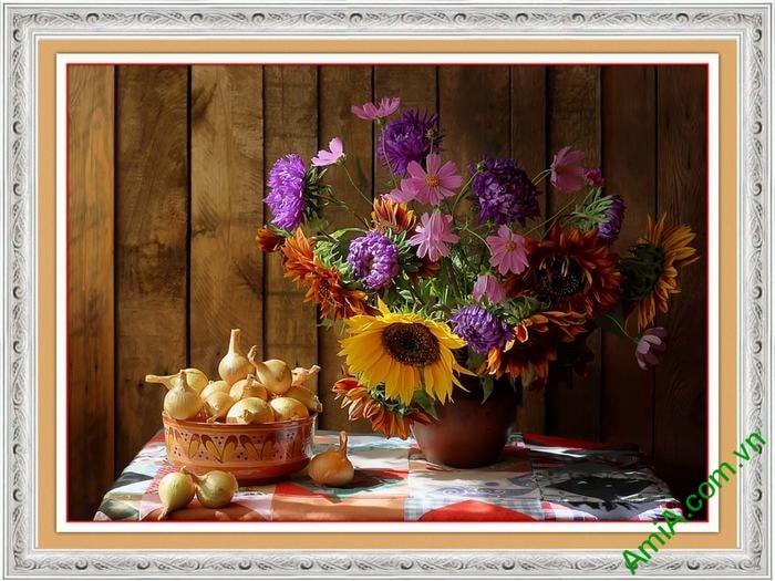 Hinh anh tranh treo o phong an binh hoa dep va gio hanh AmiA 632
