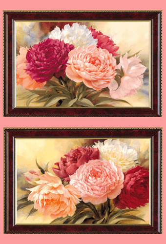 Bo tranh song hoa mau don treo tuong y nghia AmiA 425